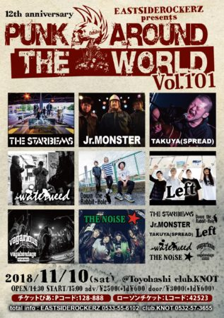 EASTSIDEROCKERZ pre PUNK AROUND THE WORLD VOL.101