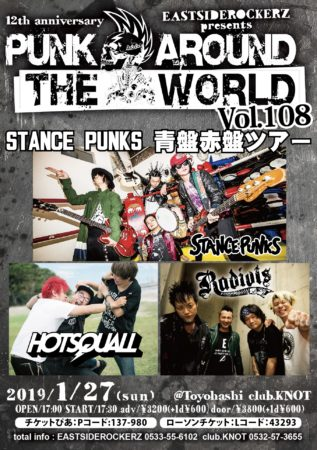 EASTSIDEROCKERZ pre.PUNK AROUND THE WORLD VOL.108