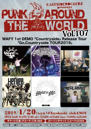 EASTSIDEROCKERZ pre.PUNK AROUND THE WORLD VOL.107