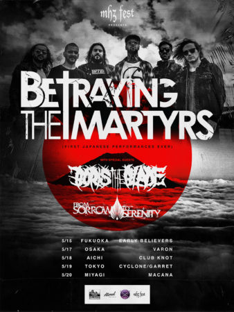 BETRAYING THE MARTYRS JAPAN 2019